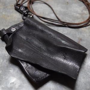 """カウレザー コインケース ネックレス 製品洗い""""COWLEATHER coincase necklace(garment wash)"""""""