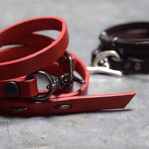 """エッジ レザー ブレス 【ブラッド】""""edge leather bracelet(blood)"""""""