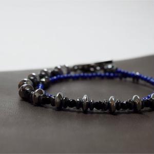 ラピスラズリ 2mm スピーナ ラップブレス ''LAPISLAZULI 2mm spina wrap bracelet''