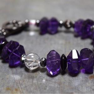"""アメジストラージタンブル ブレス""""AMETHYST large tamble bracelet"""""""