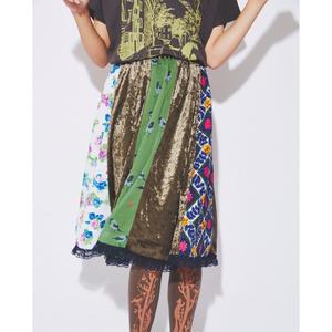 My migration kirikae skirt(Green)(数量限定受注11/30まで/12月後半〜1月お届け)