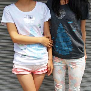 Tシャツ ミラーボールとホタルイカ 白 White