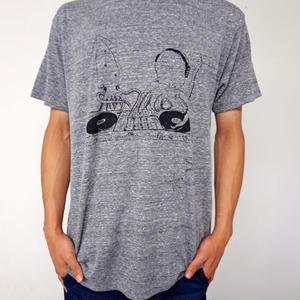 Tシャツ イカとタコのDJユニット Gray グレー