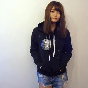 ミラーボール パーカー mirrorball hoodie 黒 ブラック