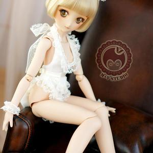 MDD 洋服 ミニドルフィードリームサイズ メイドセット(ホワイト)