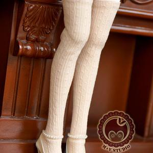 MDD,MSDサイズ ミニドルフィードリーム靴下 ロングソックス(ベージュ)