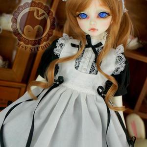 MSD/MDD 人形 ミニドルフィードリーム服 メイドワンピース