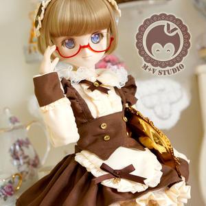 MDD MSD ミニドルフィードリーム 洋服 子猫ワンピースセット(ブラウン)