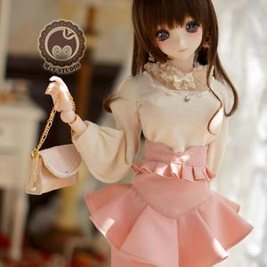 DD,DDS,DDM,DDLサイズ ドルフィードリーム 女の子 洋服セット(ピンク)
