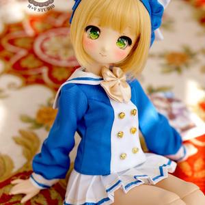 MDDサイズ ドール服 ミニドルフィードリーム 制服セット(ブルー)