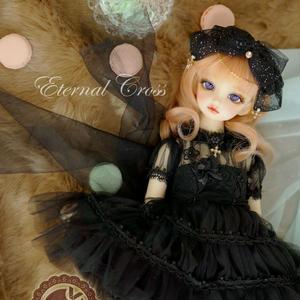 MDD MSD ミニドルフィードリーム 洋服 ウエディングドレス(黒)