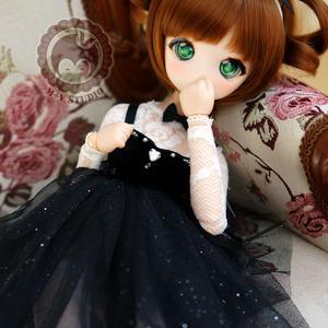 MDD,MSD ドール ミニドルフィードリーム洋服 レースドレス(ブラック)