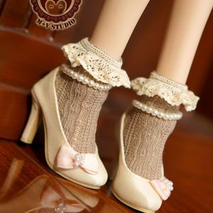 MDD,MSD ドルフィードリーム靴下 フリルソックス(ブラウン)