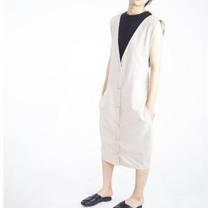 V-neck junper skirt [beige]