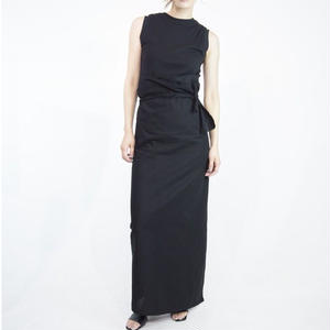 super long wrap skirt [black]