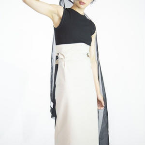 super long wrap skirt [beige]