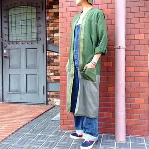 "KNIFE WING(unisex) swedish army shirts ""ribuild"" liner jacket long"