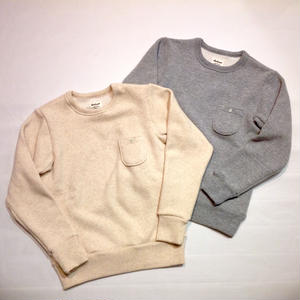 Jackman×ARCHIVE for unisex  WOOL×COTTON POCKET CREW NECK