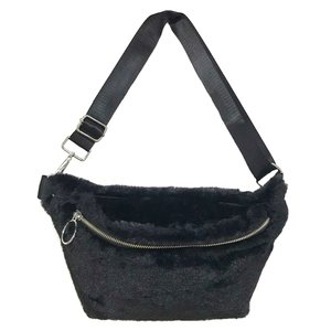Eco Fur Body Bag (Black)