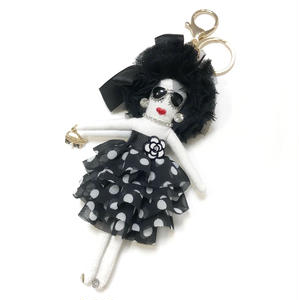 Doll Charm (Dot Black)