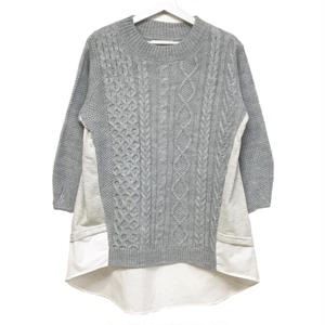 Sweat Combi Knit (Gray)