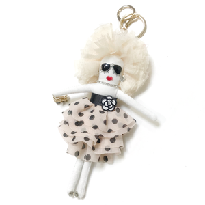 Doll Charm (Dot White)