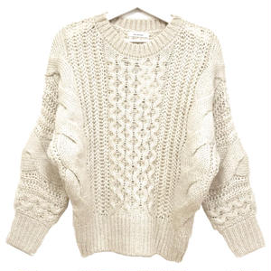 Mohair Touch Dolman Knit (Light Beige)
