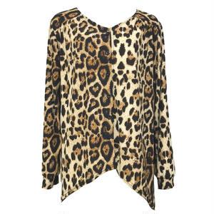Leopard Fishtail Blouse