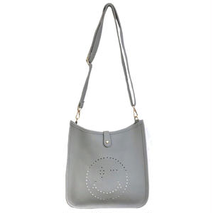 Punching Smile 2way Shoulder Bag (Gray)