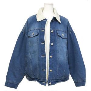 Boa Liner Big Denim Jacket