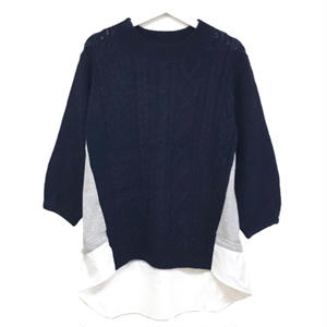 Sweat Combi Knit (Navy)