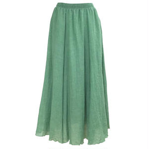Slab Long Skirt (Green)