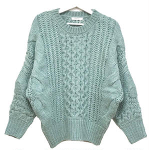 Mohair Touch Dolman Knit (Light Blue)