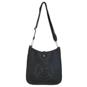 Punching Smile 2way Shoulder Bag (Black)