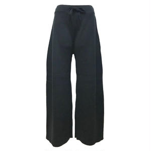 Milano Rib Knit Wide Pants (Black)