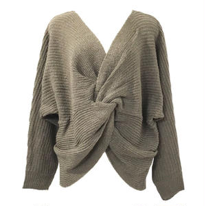 Mohair Touch Twist Design Knit (Mocha)