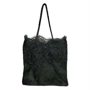Lace Square Tote Bag (Black)