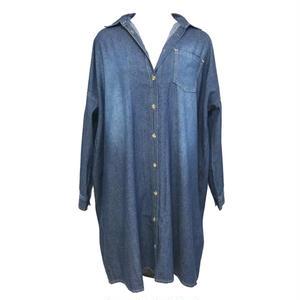 Over Size Denim Long Shirt