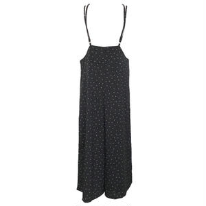 Dot Back Cross High Waist Wide Pants