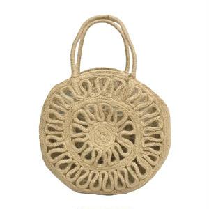 Floral Circle Jute Bag