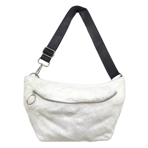 Eco Fur Body Bag (White)
