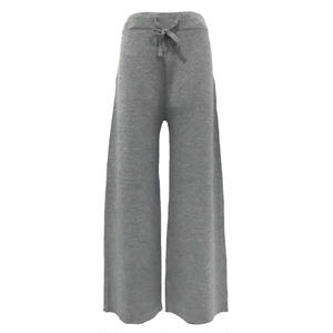 Milano Rib Knit Wide Pants (Gray)