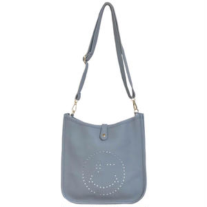 Punching Smile 2way Shoulder Bag (Blue)