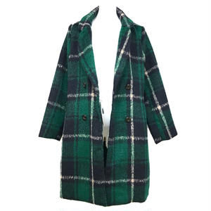 Shaggy Check Chester Coat