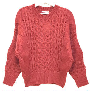 Mohair Touch Dolman Knit (Dusty Red)