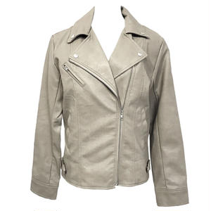 Double Riders Leather Jacket (Beige)