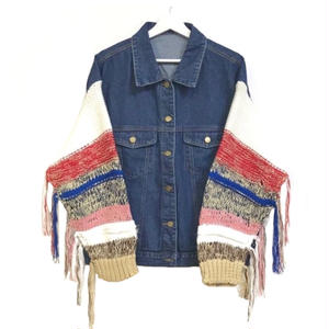 Cowichan Knit Docking Denim Jacket