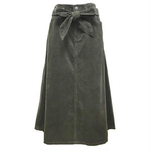 Corduroy Long Skirt (Khaki)