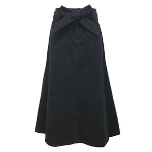 Corduroy Long Skirt (Black)