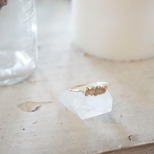 Five Stone Herkimer // ハーキマーダイヤモンドのリング